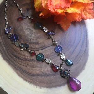 Chico's Plastic Gens Gypsy Boho Hippie Necklace